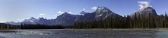 Athabasca river pano (Rikspix1) Tags: panorama canada rockies landscape mountains river