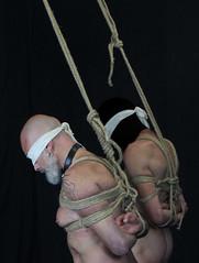 c close hood (shibarigarraf) Tags: shibari kinbaku bondage rope male shibarigarraf kiss