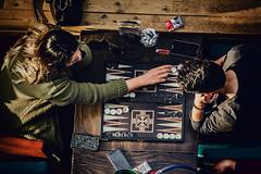 Her move (Melissa Maples) Tags: alanya turkey türkiye asia 土耳其 nikon d3300 ニコン 尼康 nikkor afs 18200mm f3556g 18200mmf3556g vr spring café yemenkahvesi playing game tavla backgammon turks couple woman man