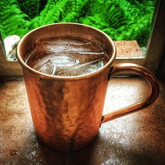 Moscow Mule (vwcampin) Tags: iphoneography iphoneographer iphonology iphoneology iphone wymanheights florence nebraska omaha inside indoor window gingerbeer vodka mug cup copper moscowmule