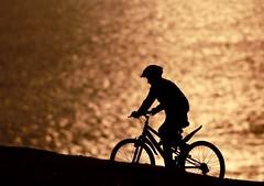 Downhill extreme (Carlos Ramirez Alva) Tags: silouette bicicleta silueta