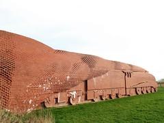 TRAIN (O'neill 93) Tags: a4 sirnigelgresley classa4 462 art railwayart sculpture bricks bricktrain darlington countydurham motorway m66 trainm66