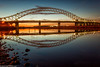 Ferry Hut (6 of 6) (andyyoung37) Tags: railwaybridge runcorn runcornbridge uk bluehour cheshire refelections rivermersey sunset england unitedkingdom gb