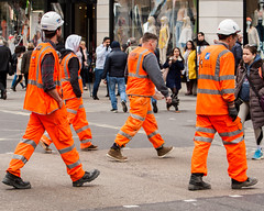 5T9W9542 (sinister pictures) Tags: 2017 sinisterpictures gb greatbritain london uk unitedkingdom canon oxfordstreet people apocalypse workmen gbr