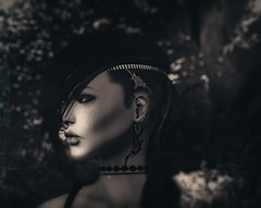 B&W.... is love (fulviomacchi) Tags: altamura strng tattoo hairbase tribal secondlife sl fashion futureavatar mesh meshhead meshbody bento meshead