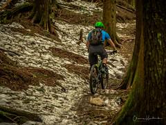 Lindsey wants more snow biking (kendyck1) Tags: fromme lindsey mountainbike mountainbiking spring snowbiking
