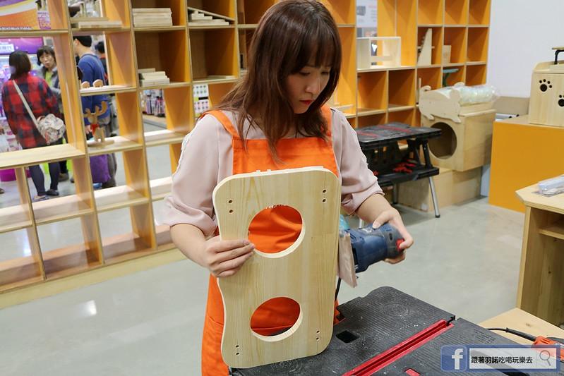特力屋木工手作課程寵物餐桌DIY 台北文創101