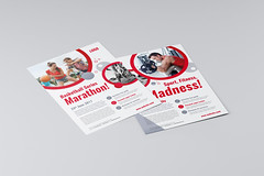 Sport Fitness Flyer (Snowboy Design) Tags: a4 advertisement beauty circles competition diet event fitness flyer funky golf gym hot marathon multipurpose poster printready red ski spa sport strong studio tournament training universal usletter wellness workout yoga