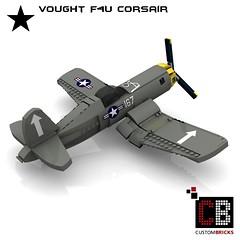 LEGO_Custom_WW2_Warplane_Vought_F4U_CB03 (LA-Design2012) Tags: lego custom moc ww2 wwii wk2 flugzeug plane kriegsflugzeug warplane vought f4u corsair bauanleitung instruction custombricks