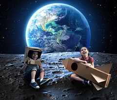 #SpaceExplorer (Krome Studio) Tags: adventure astronaut astronomy box boy cardboard caucasian child childhood cloud concept cosmonaut costume dream dressed explorer extreme flying freedom fun future game girl happiness happy helmet house imagination inspiration joy kid little moon night outdoors people person play rocket roof science sky space spaceman spaceship success tile toy travel