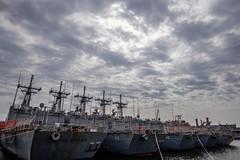 row (primemundo) Tags: inarow navyyard ships harbor naval shipyard philadelphia dock docked allinorder odc