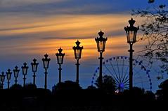Sunset in Paris (natureloving) Tags: sunset nature lamppost natureloving paris nikon d90 parisianlampposts lampposts sky