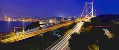 Urban Lanes In Blue (s.take-zak) Tags: blue night lanes kitakyushu japan i wish we were in these together urban