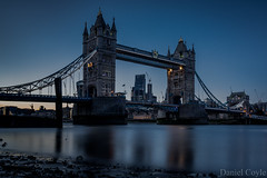 Low Tide (Daniel Coyle) Tags: lowtide towerbridge towerbridgenight bridge nikon nikond7100 d7100 danielcoyle river riverthames thames water reflections cheesegrater walkietalkie gherkin herontower foreshore beach dusk sunset lights night nightphotography nightshot nightonearth london londonnight londonbluehour londonsunset cityoflondon