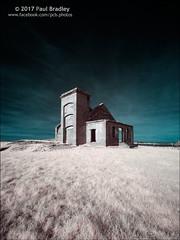 Fan House (ScudMonkey) Tags: fanhouse c2017paulbradley digitalinfrared ir 720nm falsecolour warsetthill skinningrove northyorkshire ironstone mine guibal abandoned derelict canon 30d converted efs1022mmf35
