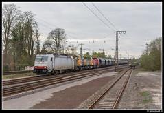 ITL 186 137 + DBC 6493 + 6402 + 6404 - 47614 (Spoorpunt.nl) Tags: 8 april 2017 captrain itl 186 db cargo rail polska polen 6493 6402 6404 47614 transport locomotief overbrenging 137 rheine
