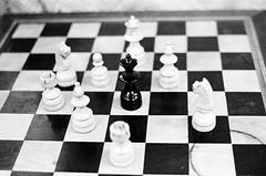 The Gabon Queen - A Rainha do Gabão (terencekeller) Tags: pentax k1000 tmax tmax400 kodak bw pb 35mm film brazil brasil black white branco preto kodaktmax analog analógica analogue monocromático pentaxk1000 50mm checkmate xequemate chess thequeen xadrez