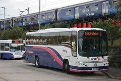 The Eternal Paragon (The One) (20508) (DeadManBreathing96) Tags: first glasgow firstglasgow volvo b12m plaxton paragon ao02 rcz ao02rcz 20508 clydebank chalmers street west dunbartonshire scotland barbielivery dumbarton cv27 firsteasterncounties 208
