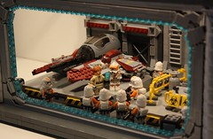 Overall shot | Lego Venator Hangar Bay MOC (h2brick) Tags: lego legostarwars legovehicle clone clonewars battle starwarstheclonewars star starwars starwarsseason6 ship side stormtrooper wars obiwan captain commander campaign atrt troopers the