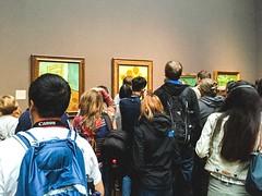 Van Gogh, National Gallery, London (Craig Atkinson ©) Tags: art britain chair craigatkinson crowd london nationalgallery places sunflowers vangogh painting summer