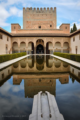 Spain | Alhambra - The Court of the Myrtles (Nicholas Olesen Photography) Tags: spain europe granada alhambra reflection nasrid palace water building architecture islamic unesco vertical travel nikon d90 pond reservoir