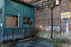 Memories (fotofish64) Tags: abandonedmill abandoned decay derelict weatheredwood window brokenwindow word sign ghostsign brickwork brick vacantbuilding color outdoor bleak sad amsterdam newyork capitalregion mohawkvalley texture urban urbandecay pentax pentaxart hdpentaxda1685mmlens k70 kmount