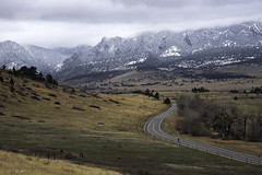 Out for a Spin (courtney_meier) Tags: bouldercounty colorado landscape rockymountains clouds cycling cyclist mountains plains snow snowclouds springsnow