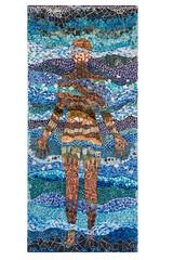 Weather on Steroids Exhibit (Scripps_Oceanography) Tags: climate science climatechange art artwork blue mosaic humanfigure
