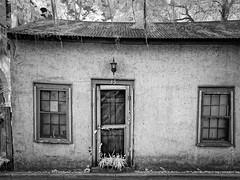 35: A seldom used door (Ed Rosack) Tags: usa infrared vine house window door ©edrosack panorama buildingandarchitecture staugustine florida ir