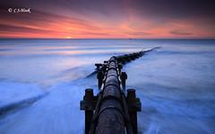 Curved (carmellestewarthook) Tags: cambois pipe lee 70d stewarthook seascape sunrise