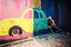 Peinture mécanique… (bertrand taoussi) Tags: selfportrait art 2cv airjp urbex