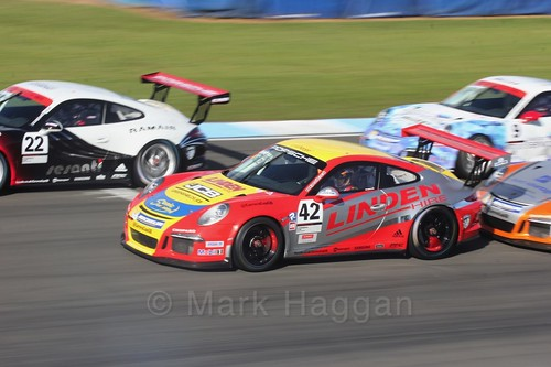 Graeme Mundy in the Porsche Carrera Cup Race One during the BTCC Weekend at Donington Park 2017: Saturday, 15th April