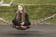 Levitare (Viola Madau) Tags: lucy levitazione park raploch scotland portrait