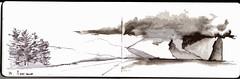 Lord Howe Island memory stretch (panda1.grafix) Tags: lordhoweisland blackandwhitesketch mountgower seascape