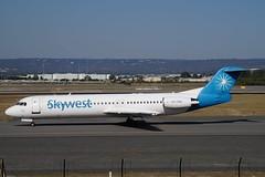 VH-FNN Skywest Aviation Fokker 100 (johnedmond) Tags: perth ypph australia fokker f100 skywest aviation aircraft aeroplane airplane sel55210 55210mm sony