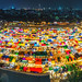 A panoramic view of Thai night market
