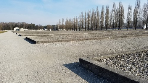 Foundations of living quarters, Dachau Concentration Camp, Munich, Germany