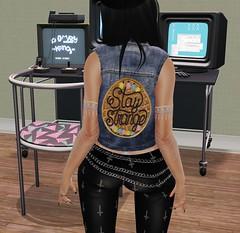 Stay Strange (MissChloeCash) Tags: second life stranger things denim chic grunge punk retro 80s fashion