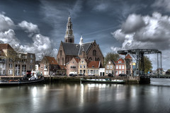 Clouded Maassluis (Rik Tiggelhoven Travel Photography) Tags: maassluis nederland netherlands holland europe europa clouds clouded sky building church bridge water reflection reflectie ndfilter nd filter neutral density longexposure long exposure canon 6d fullframe full frame riflessi hdr city cityscape rik tiggelhoven travel photography
