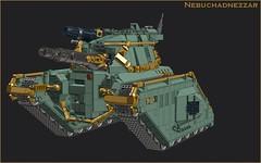 Nebuchadnezzar (Cagerrin) Tags: lego system tank ldd 3d legodigitaldesigner 40kish