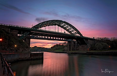 The Wearmouth Bridge (© Ian Flanagan) Tags: bridge dusk sunset landscape river wear wearmouth pink sunderland wearside colour