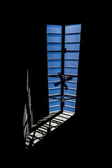 Sky Light (ajecaldwell11) Tags: sun hawkesbay newzealand ankh fan skylight sky shadow countyhotel caldwell silhouette light