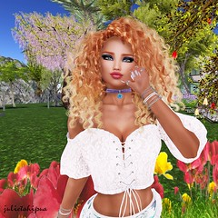 In The Flowers 1 (✿❋✤Juliet Ahi Pua ✤❋✿) Tags: catwa kouralee glamaffair euphoric analogdog hairology amarabeauty arte realevil candydoll coco breathe bodylanguage dieselworks