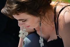 Earrings (swong95765) Tags: woman female lady jewlery earing dangle working artist painter