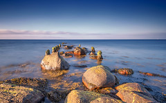 Baltic blue (Stefan Sellmer) Tags: schleswigholstein wow color sunset germany outdoor evening light blue ocean balticcoast ostsee seascape rocks kiel balticsea seaside strande deutschland