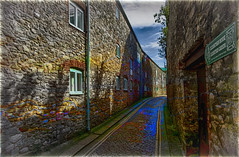 Cobbled Colour Scene (mik-shep) Tags: 365the2017edition 3652017 day106365 16apr17 day106 2017onephotoeachday cobbles barbican thebarbican plymouth colour photoshop