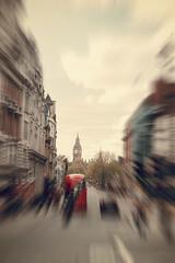 London traffic (sabrinasteiger1) Tags: london traffic big ben england gb grosbritannien europa bus bigben verkehr auto car creativphotography zoomburst zoom housesofparliament