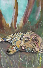 IF Fable (artworkbyimelda) Tags: artworkbyimelda illustrationfriday lion mouse fable
