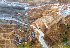 Gold-Mining (petefoto) Tags: newzealand waihi gold silver nikon bighole goldprice waikato industry marthagoldmine outside rock ore dumpertrucks 85tonsload ontheedge bigdrop danger