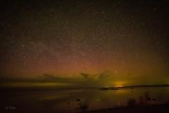 Just a hint of color . . . (Dr. Farnsworth) Tags: northern lights aurora oldmission peninsula charlevoix night dark sky stars fernridge mi michigan spring april2017 nationalgeographc discoveryaward fantasticnature